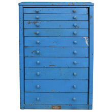 Bright Blue Industrial Parts Cabinet C1945