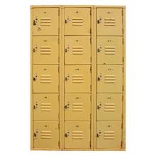 Bright Yellow Vintage School Locker Unit C1955