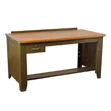 Large Hamilton Drafting Desk w/ Metal Base c1945
