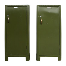 Pair of Otis Elevator Company Cabinets C1930