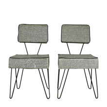 Pair of Mid-Century Children's Chairs W/ Hairpin Legs C1950