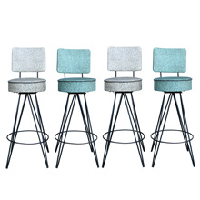 Set of Four Atomic-Age Kitchen Stools W/ Hairpin Legs C1950s