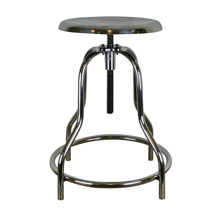 Industrial Polished Chrome Operating Room Stool C1935