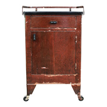 Weathered Faux Wood Grain Dental Cabinet C1930