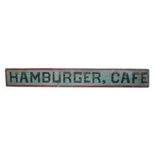 Primitive Hand-Painted Hamburger Sign C1930s