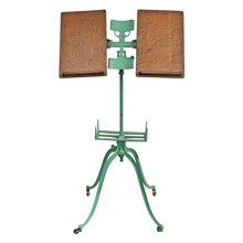 Adjustable Oak and Iron Library Stand C1890s