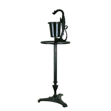 Medieval Revival Cast Iron Smoking Stand W/ Dragon C1925
