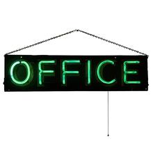 Window-Hanging Office Neon Sign c1940