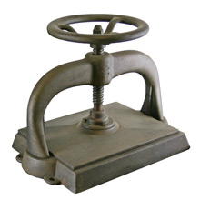 Raw Cast Iron Printing Press C1910
