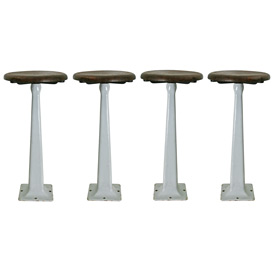 Set of 4 Soda Shop Stools C1950