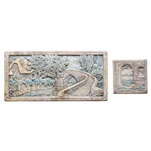 Large and Accent Fireplace Tiles by Claycraft c1925