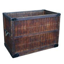 Industrial Wooden Laundry Hamper C1930