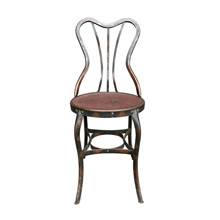 Unique Toledo Cafe Chair w/ Japanned Copper Finish C1910s