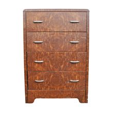 Simmons Faux Wood Grain Metal Dresser C1930s