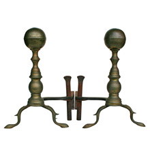 Ornate Federal Brass Andirons C1820