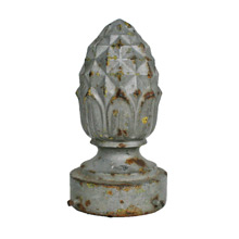 Monumental Cast Iron Street Lamp Finial C1900