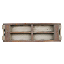 Industrial Wood and Steel Brick Mold Tray C1930s