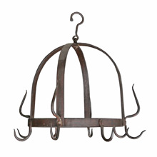 Petite Hand Forged Pot Rack C1900