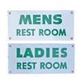 Pair of New Old Stock Enamel Restroom Signs C1930s