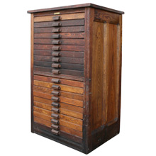 Tubbs Manufacturing Company Flat File Cabinet C1900