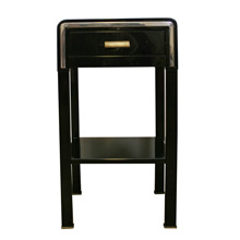Art Deco Black and Chrome Night Stand by Simmons C1935