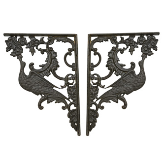 Impressive 13.5 in. Cast Iron Victorian Brackets C1885