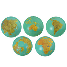 Set of 5 Educational Relief Globes for the Blind c1963