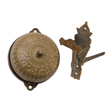 Ornate Victorian Door Bell w/ Cast Bronze Lever c1870