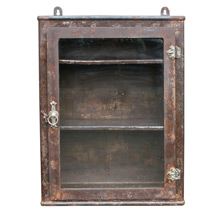 Rusted Steel Wall-Mounted Medical Cabinet C1920
