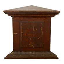 Knights of Pythias Carved Pedestal c1890