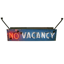 Vintage Two-Sided Hotel Vacancy Sign C1955