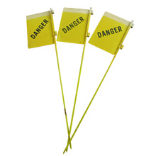 Set of Three New Old Stock Reflective Danger Signs C1930s