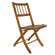 Maple Spindle-Backed Folding Chair C1930