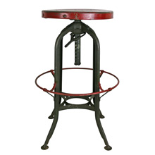 Adjustable Height Toledo Factory Stool C1930