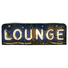 Perfectly Worn Neon Lounge Sign C1940