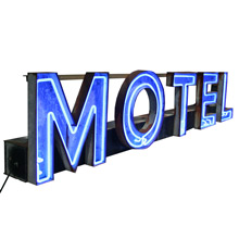 Eleven Foot Long Salvaged Motel Sign C1960s