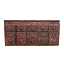Early Globe Card Catalog Cabinet C1890