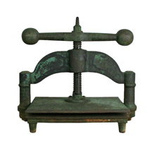 Handsome Cast Iron Book Press C1890