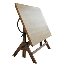 Oak and Maple Drafting Table by Hamilton C1930s