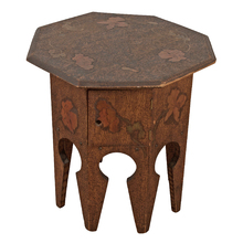Arts & Crafts Pyrography Tabouret Table c1915