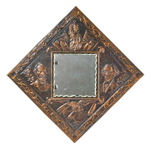 Copper Repousse Presidential Mirror c1900