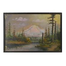 Mount Rainier Landscape Painting c1915