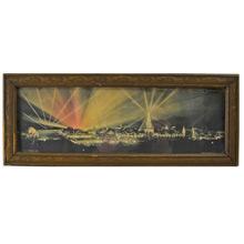 Framed Panama-Pacific Exposition Souvenir Print c1915