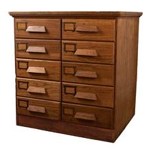 Ten Drawer Oak Filing Cabinet c1920s