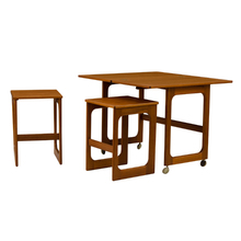 Mid-Century Table w/ Nesting Chairs c1960