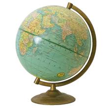 9 Inch Terrestrial Globe by George F. Cram C1955