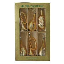 Set of Mr Christmas Tree Ornaments W/ Original Box C1948