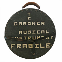 Hand-Painted Snare Drum Carrying Case C1960