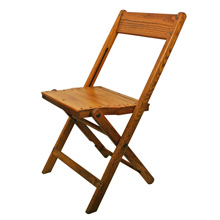 Vintage Oak and Maple Folding Chair C1940s