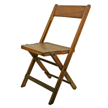 Vintage Maple Folding Chair C1940s